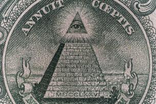 1ドル紙幣 ピラミッドの写真素材 [FYI01175950]