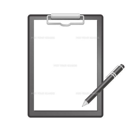 バインダーとペンのイラスト素材 [FYI01175952]