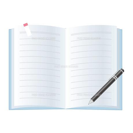 ノートとペンのイラスト素材 [FYI01175953]