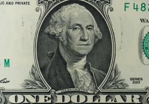 1ドル紙幣 ワシントンの写真素材 [FYI01176118]