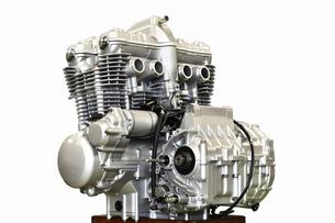 大型バイクのエンジン整備の写真素材 [FYI01176188]