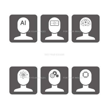 AI アイコンのイラスト素材 [FYI01176212]
