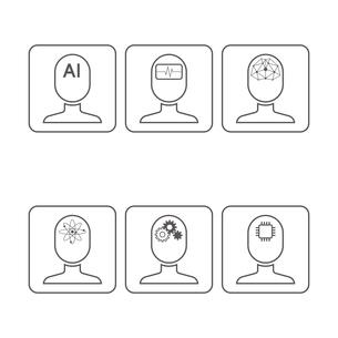 AI アイコンのイラスト素材 [FYI01176213]