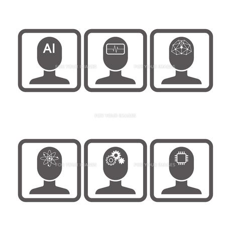 AI アイコンのイラスト素材 [FYI01176214]