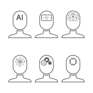 AI アイコンのイラスト素材 [FYI01176215]
