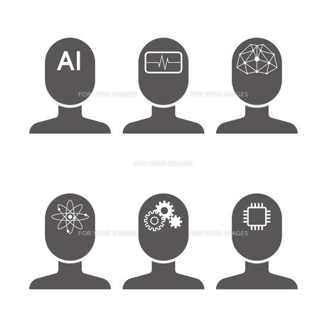 AI アイコンのイラスト素材 [FYI01176217]