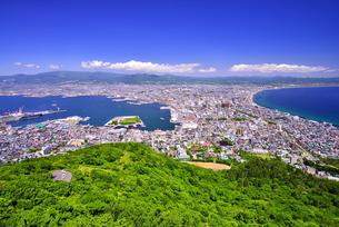 函館山展望台から街並みの写真素材 [FYI01176487]
