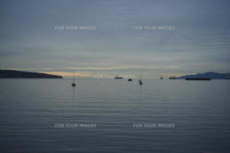 海 内海 湾 風景 背景の写真素材 [FYI01177255]