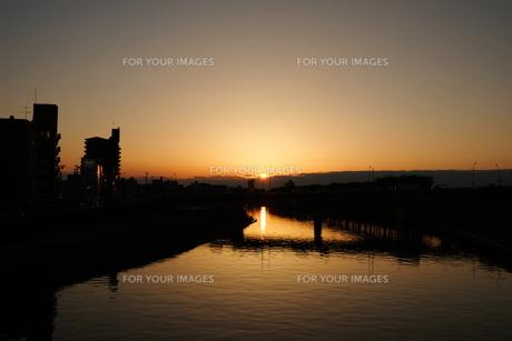 日本の夕景の写真素材 [FYI01177823]