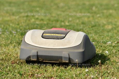ロボット芝刈り機の写真素材 [FYI01177966]