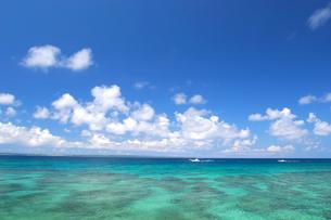 池間島から見たエメラルドグリーンの海の写真素材 [FYI01177992]