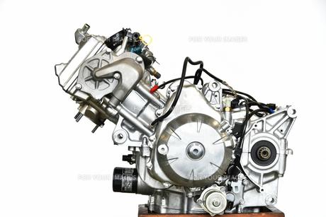 大型バイクエンジンの整備の写真素材 [FYI01178178]
