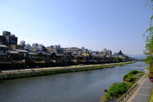 京都鴨川の風景の写真素材 [FYI01178609]