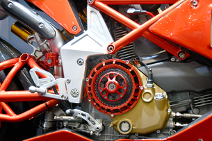 大型バイクのエンジンの写真素材 [FYI01178904]
