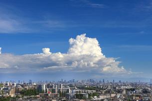 大阪市梅田の高層ビル群を遠くに眺める 東豊中ビューレジデンスよりの写真素材 [FYI01179906]