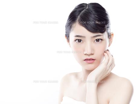 女性ビューティーイメージの写真素材 [FYI01180000]
