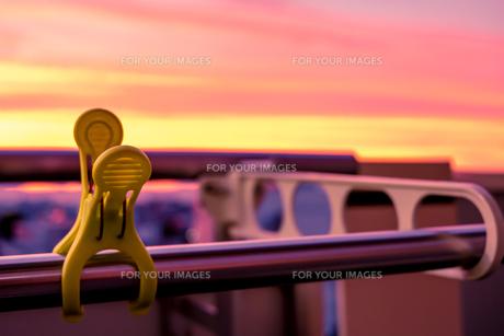夕方のベランダの写真素材 [FYI01180362]