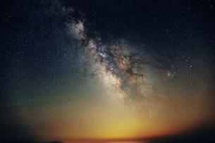 夏の天の川の写真素材 [FYI01180828]