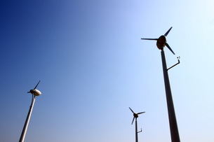 環境に優しい風力発電の写真素材 [FYI01180975]