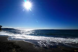 日差しに光る海岸の写真素材 [FYI01180989]