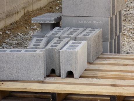 コンクリートブロックの写真素材 [FYI01181539]