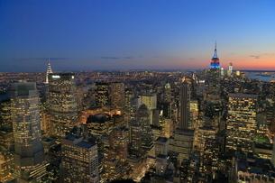 ニューヨーク街 夕景の写真素材 [FYI01181902]