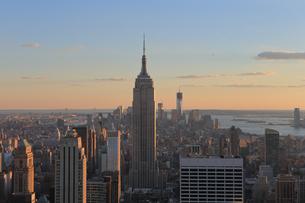 ニューヨーク街 夕景の写真素材 [FYI01181907]