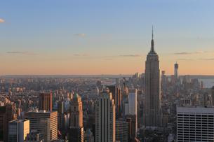 ニューヨーク街 夕景の写真素材 [FYI01181908]