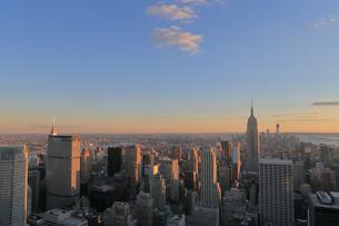 ニューヨーク街 夕景の写真素材 [FYI01181909]