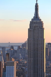 ニューヨーク街 夕景の写真素材 [FYI01181910]
