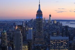 ニューヨーク街 夕景の写真素材 [FYI01181916]