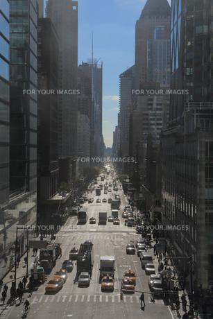 ニューヨーク 通り俯瞰の写真素材 [FYI01181926]
