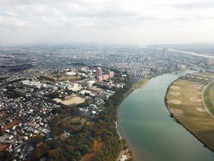市川市上空からの空撮の写真素材 [FYI01182015]