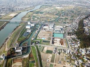 市川市上空からの空撮の写真素材 [FYI01182016]