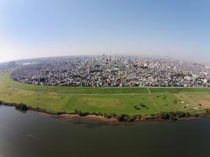 市川市上空からの空撮の写真素材 [FYI01182019]