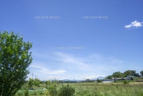田園の空と雲の写真素材 [FYI01182170]