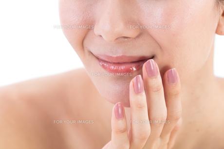 女性の口元の写真素材 [FYI01182280]