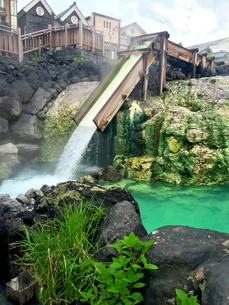 草津温泉 湯畑の写真素材 [FYI01182651]