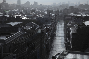 雨上がりの町の写真素材 [FYI01182702]