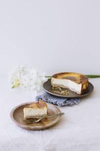 ベイクドチーズケーキの写真素材 [FYI01182855]