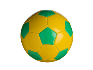 カラフルなサッカーボールの写真素材 [FYI01182944]