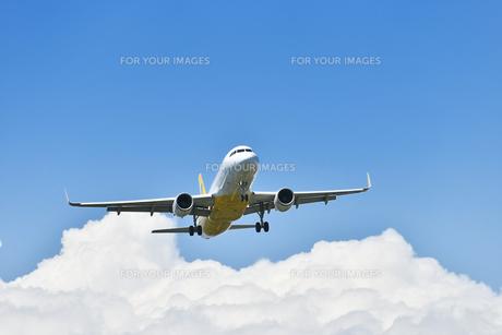 着陸態勢の旅客機の写真素材 [FYI01183210]