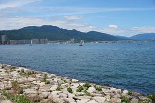 琵琶湖大津港の写真素材 [FYI01183257]
