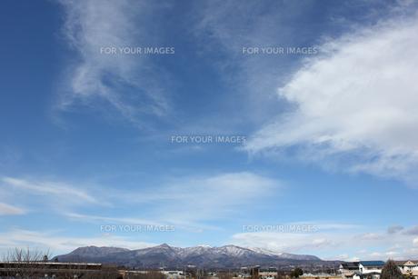 日本の赤城山,冬の写真素材 [FYI01183492]