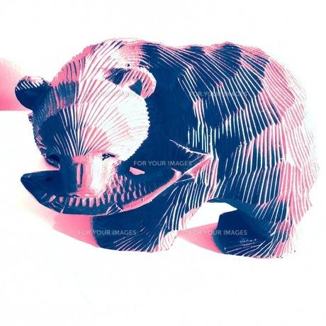 木彫り熊の写真素材 [FYI01183552]