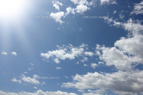 空,雲,青空の写真素材 [FYI01184053]