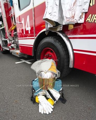 消防士 ただいま休憩中の写真素材 [FYI01184155]