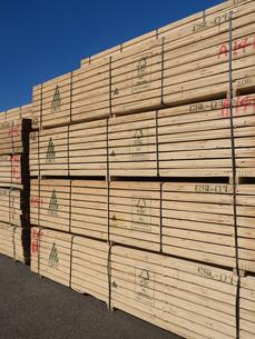 積み上げられた材木の写真素材 [FYI01184369]