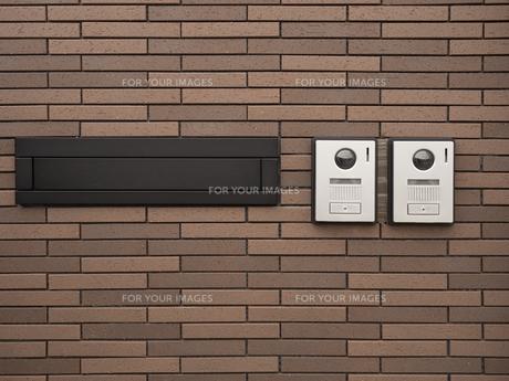 二世代住宅の玄関の写真素材 [FYI01184541]