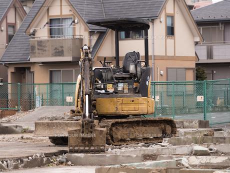 住宅街の再開発工事の写真素材 [FYI01184569]